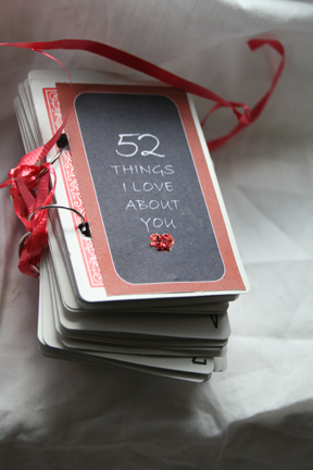 DIY anniversary gift 52 Things I Love About You